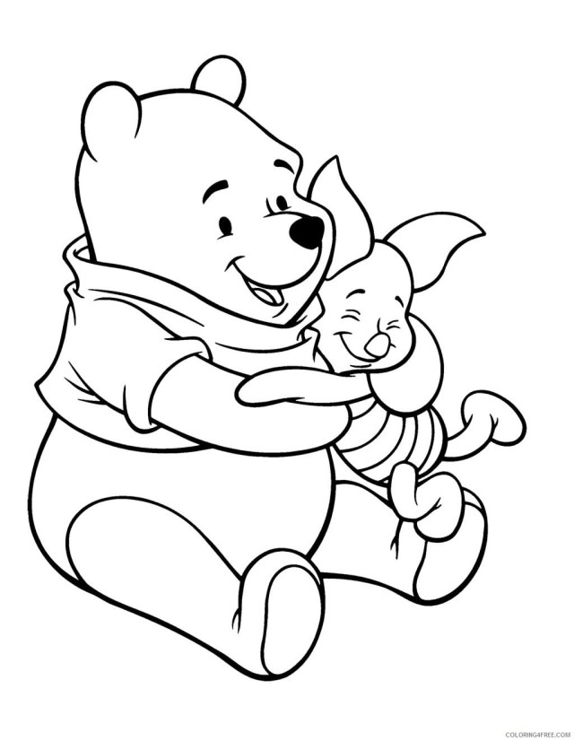 Winnie the Pooh Coloring Pages Cartoons Winnie the Pooh and Piglet