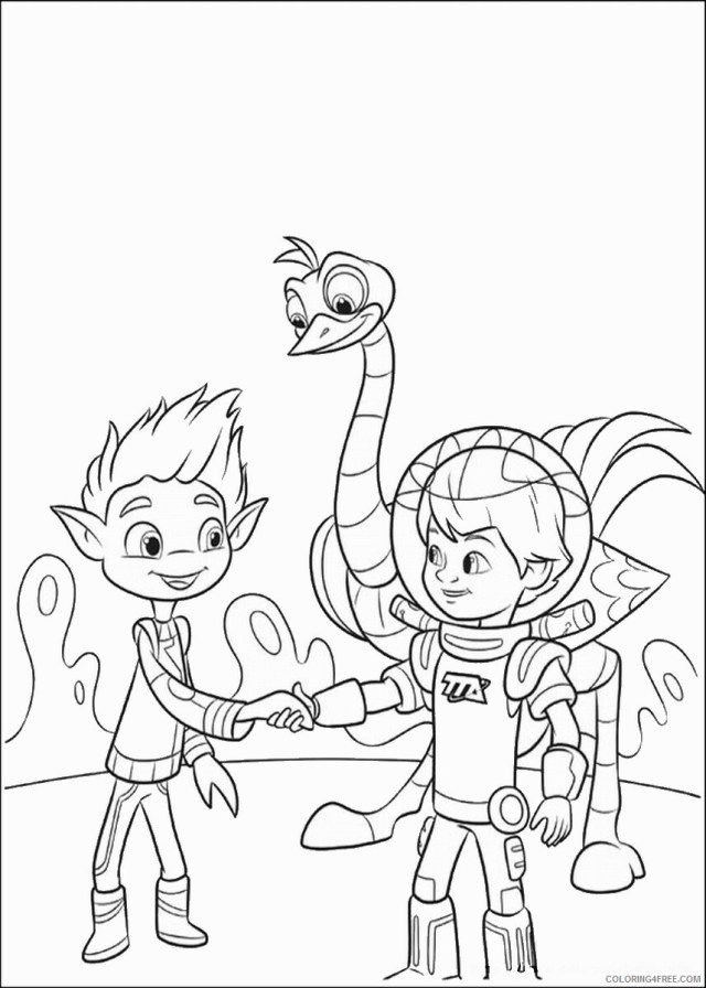 Miles from Tomorrowland Coloring Pages TV Film Printable 9