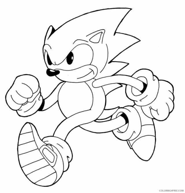 Sonic Coloring Pages Games Free Sonic to Print Printable 24 24