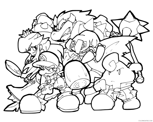 Super Mario Coloring Pages Games Mario Characters Printable 19