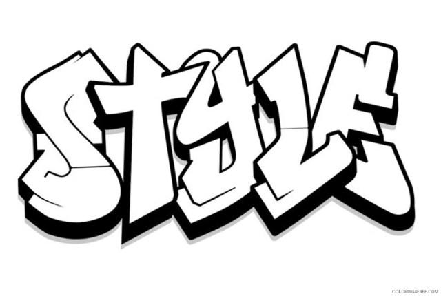 Graffiti Coloring Pages Style Graffiti Printable 25 25