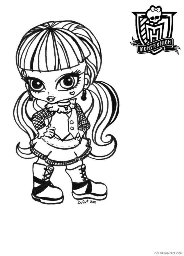 Monster High Coloring Pages Monster High Baby Images Printable