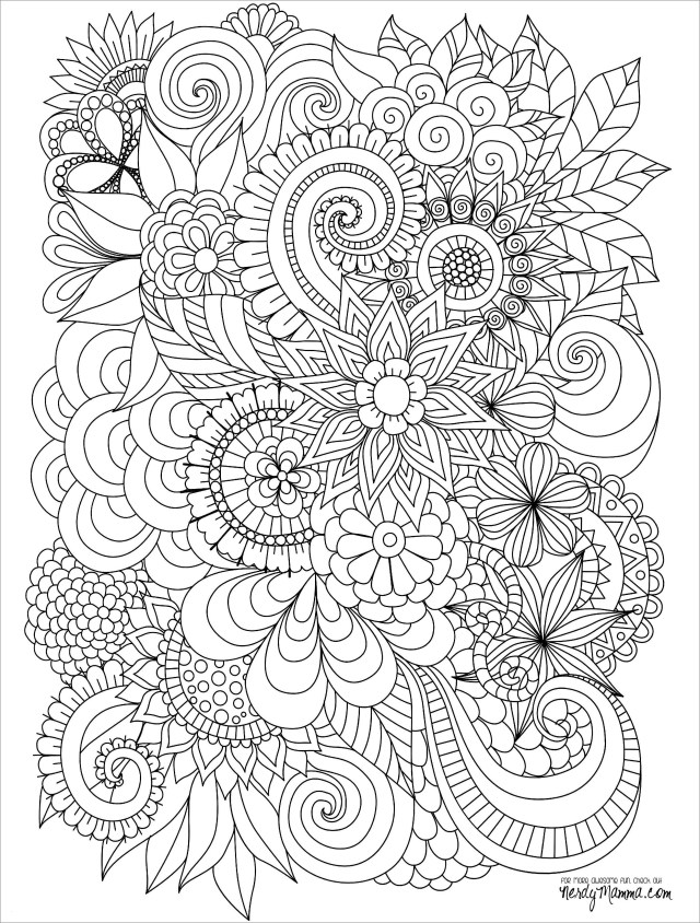 Abstract Coloring Pages Flowers - ColoringBay