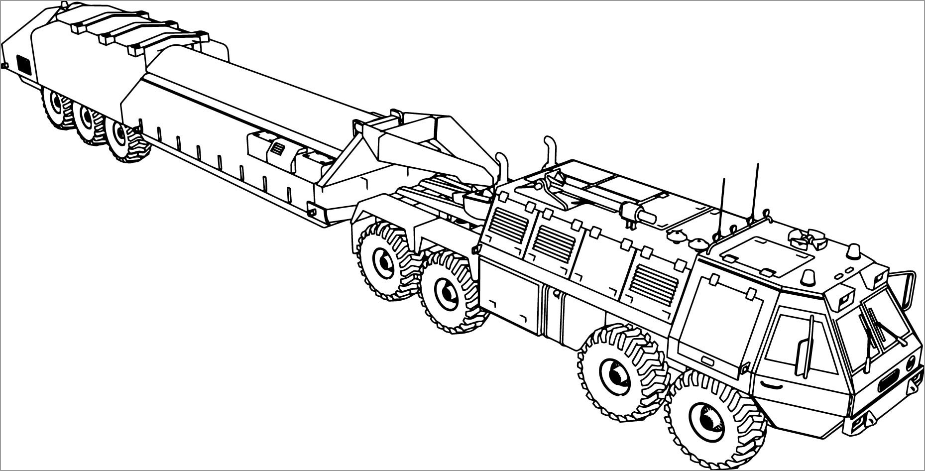 Army Car Coloring Pages