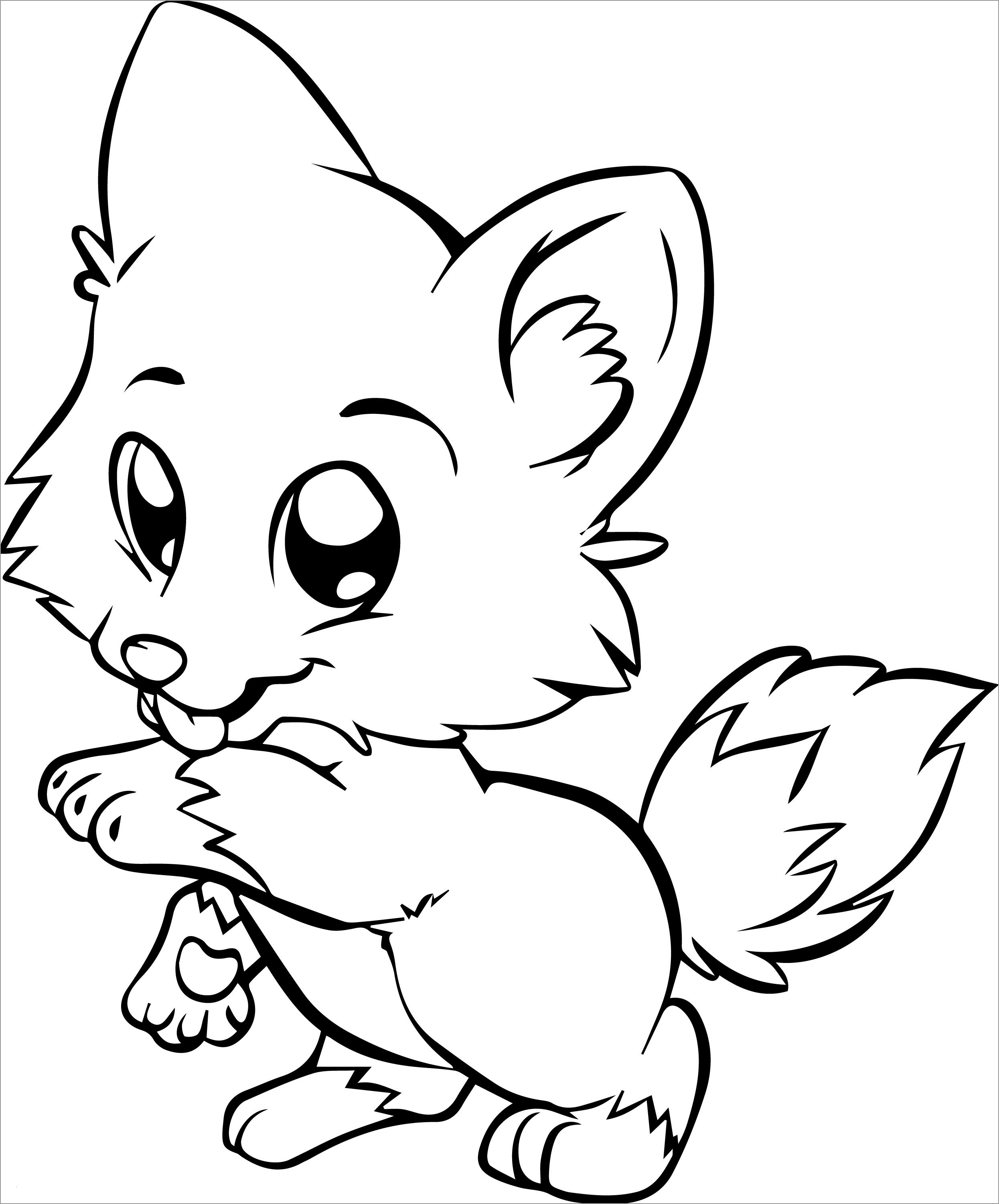 Baby Fox Coloring Page Coloringbay