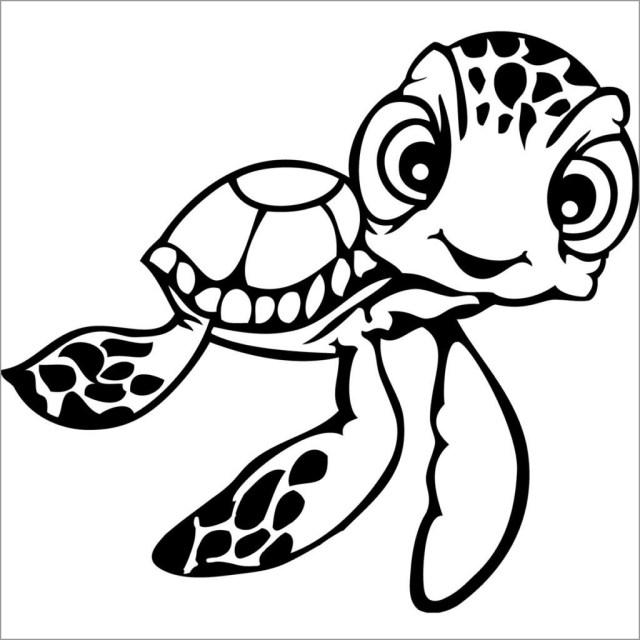 Baby Sea Turtle Coloring Page - ColoringBay