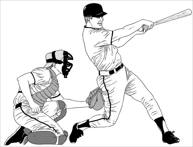 Baseball Coloring Pages for Kids - ColoringBay