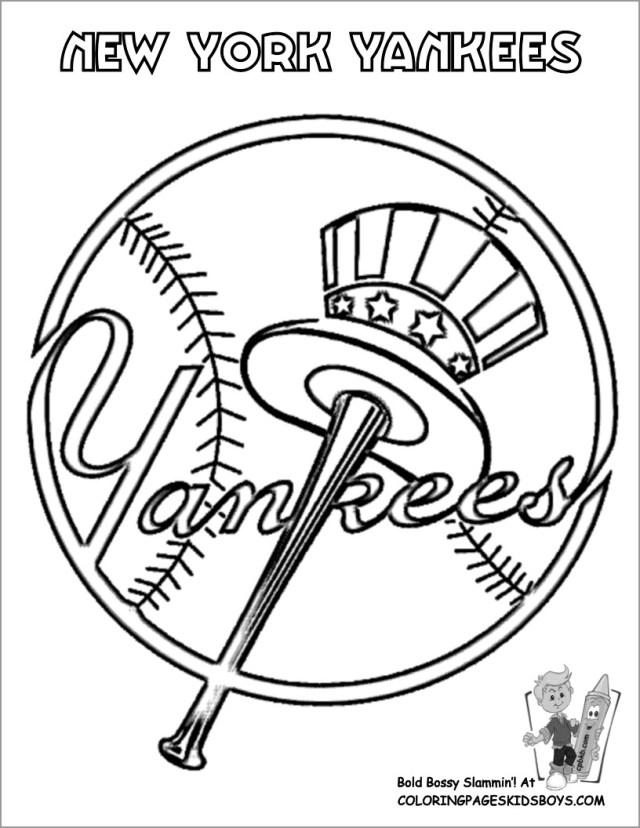Baseball Coloring Pages Yankees - ColoringBay