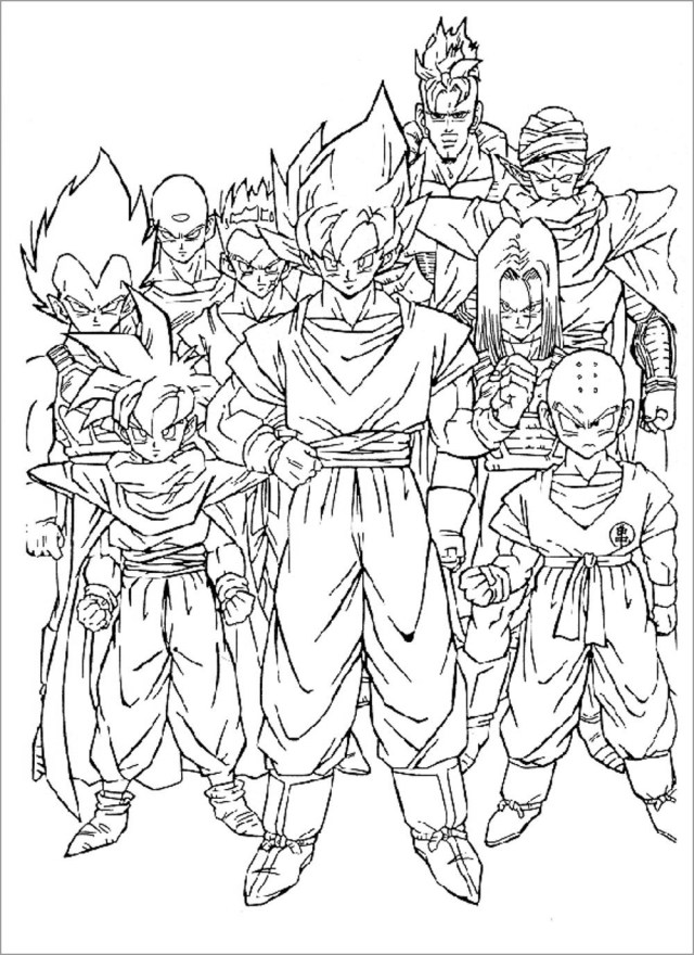 Dragon Ball Z Coloring Pages to Print - ColoringBay