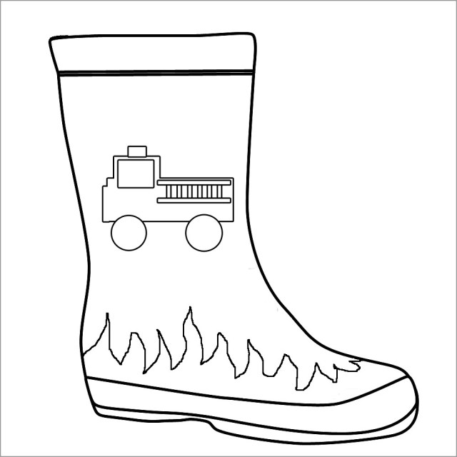 Firefighter Boots Coloring Page - ColoringBay