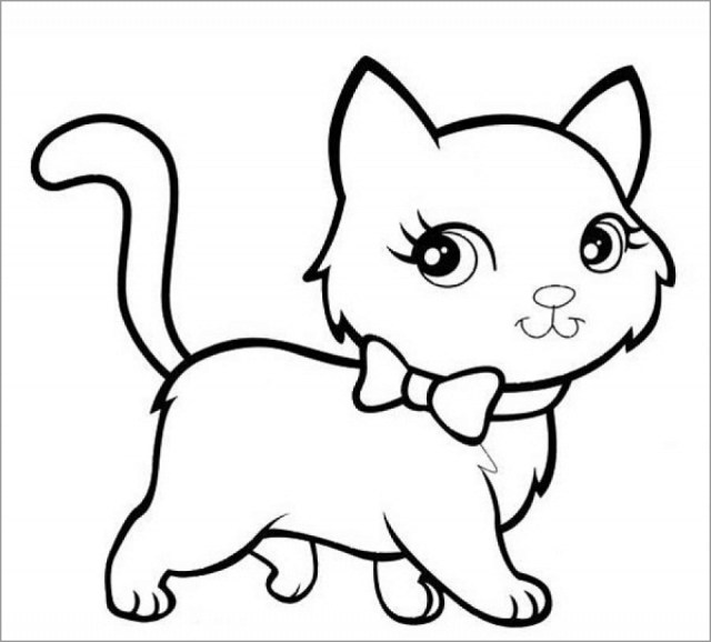 Kitten Coloring Pages - ColoringBay