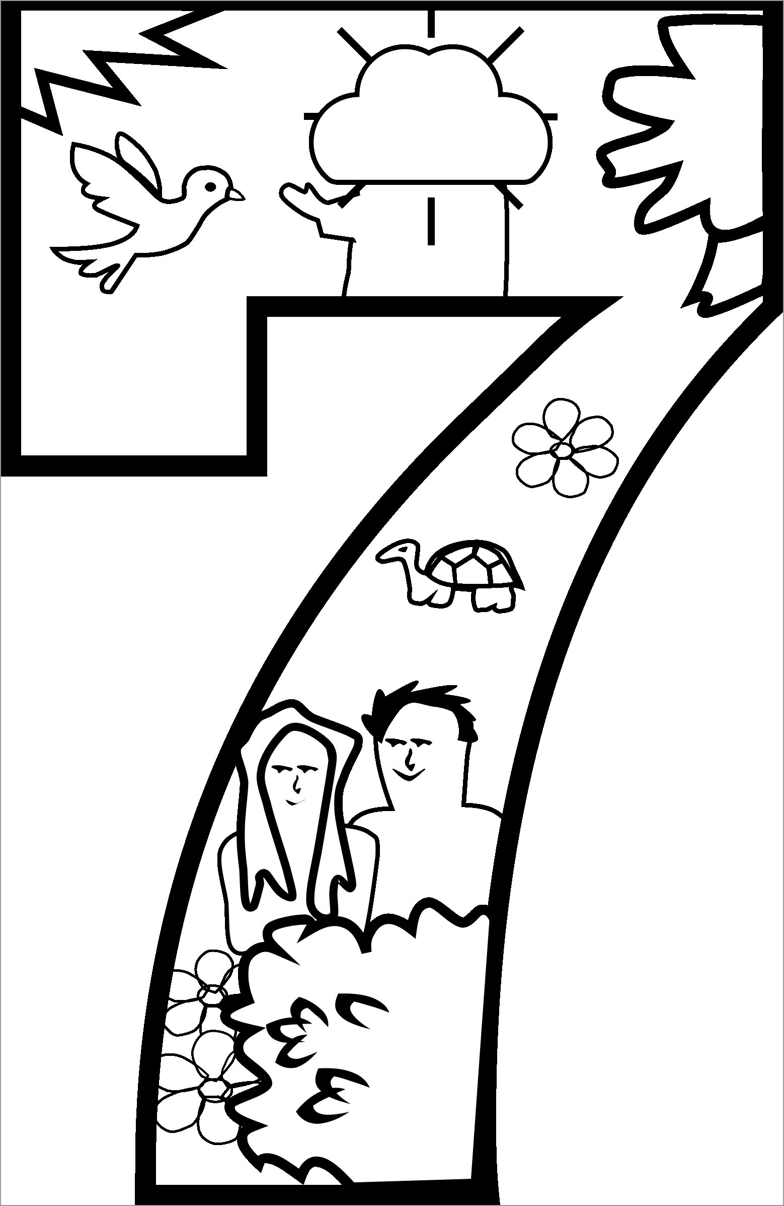 Number 7 Coloring Pages