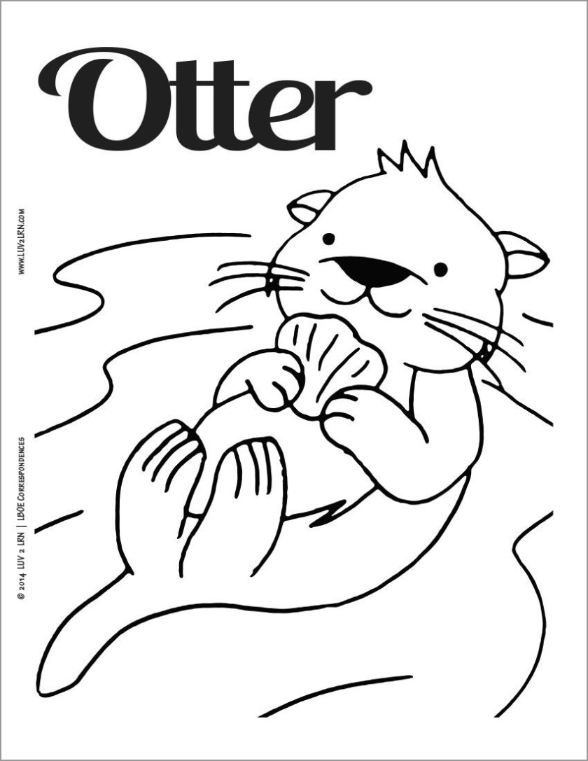 otter coloring pages  coloringbay