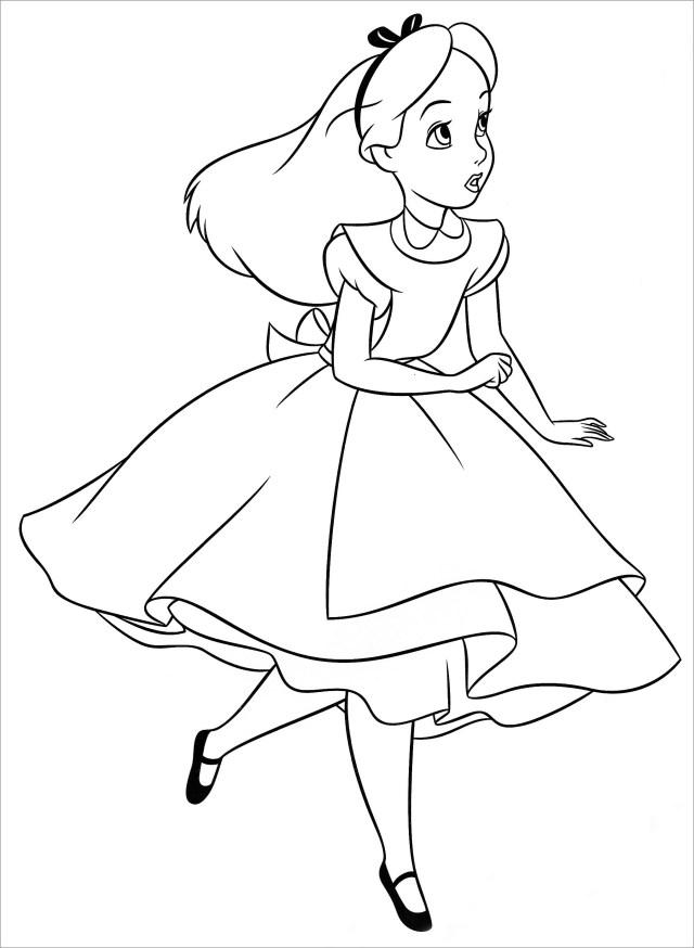 Walt Disney Coloring Pages Alice In Wonderland - ColoringBay