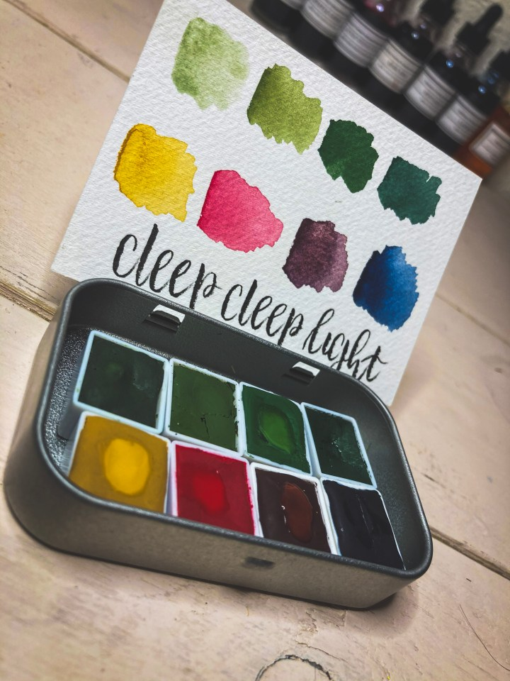 Nature by Nature Watercolor Palette by Deep Deep Light on Coloring Brittany Art