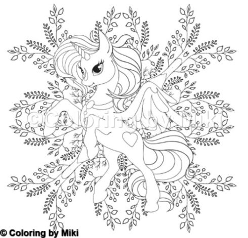 301Unicorn Coloring By Miki