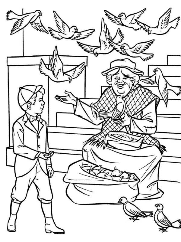 mary poppins coloring pages # 49