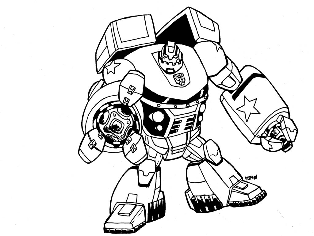 New Transformer Coloring Page 22