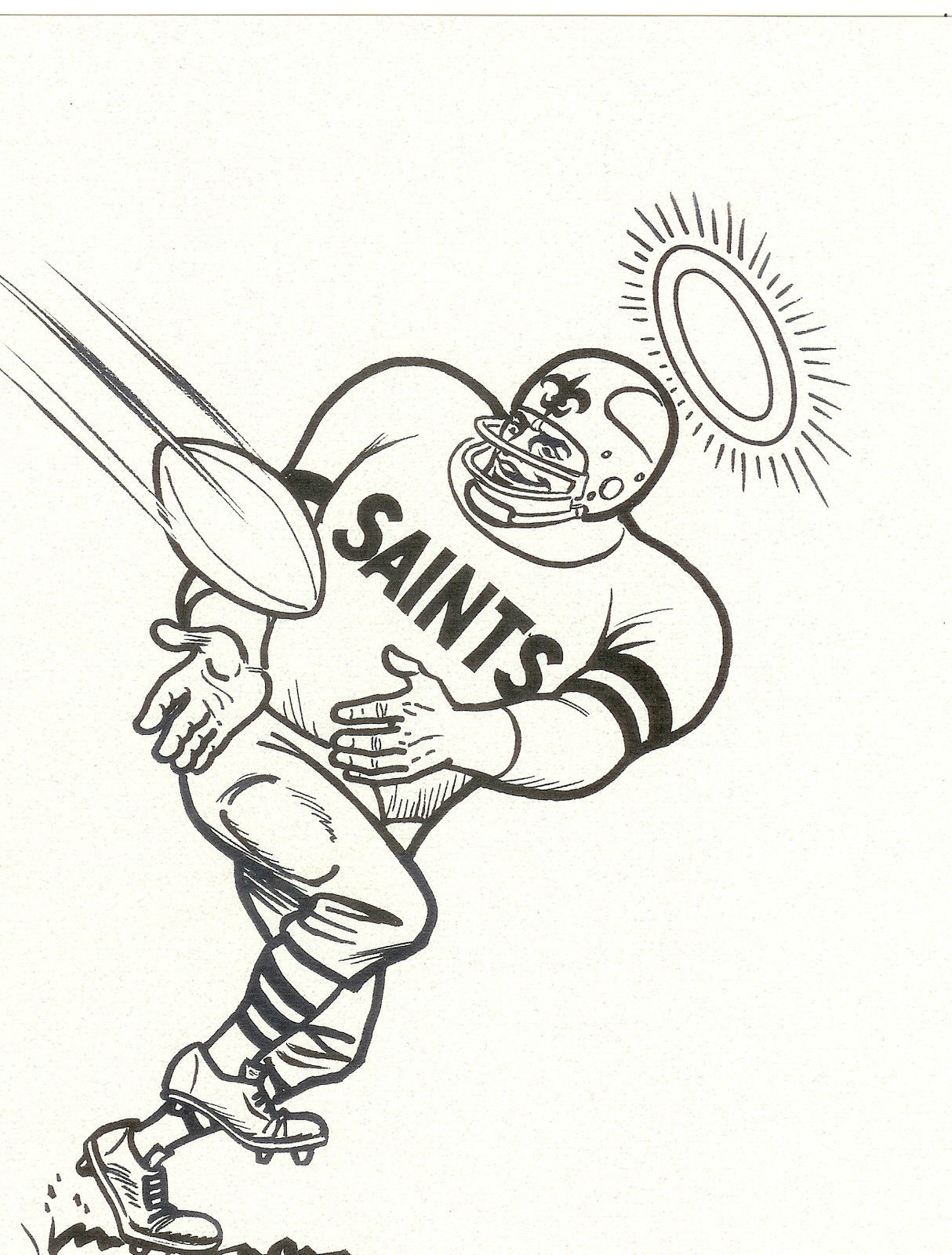 New Orleans Saints Coloring Page