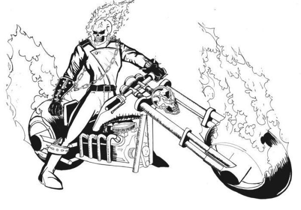 ghost rider coloring pages # 7