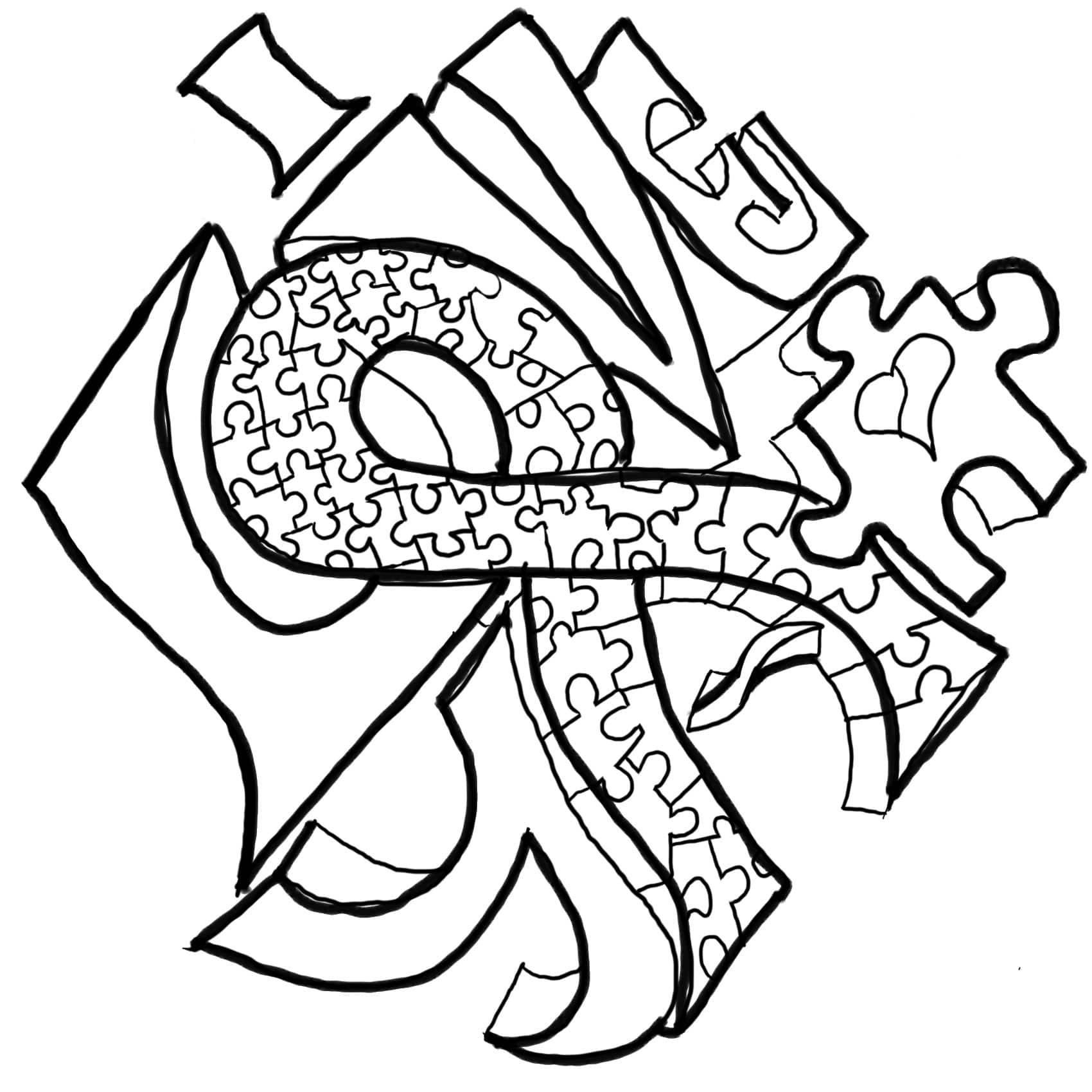Autism Awareness Coloring Pages