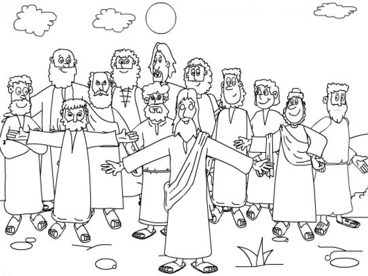Twelve Disciples Coloring Page