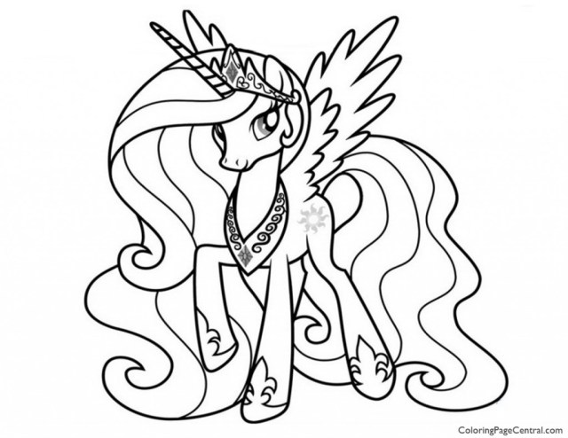 My Little Pony Princess Celestia Printable Coloring Pages