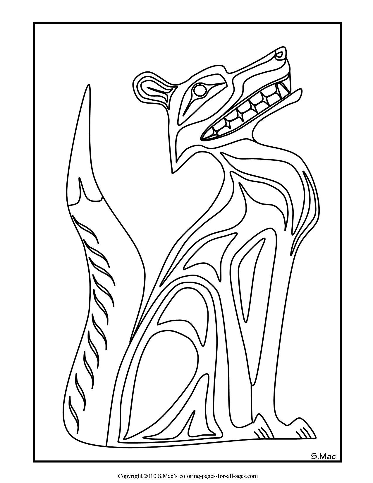 Coloring Page Native Americans