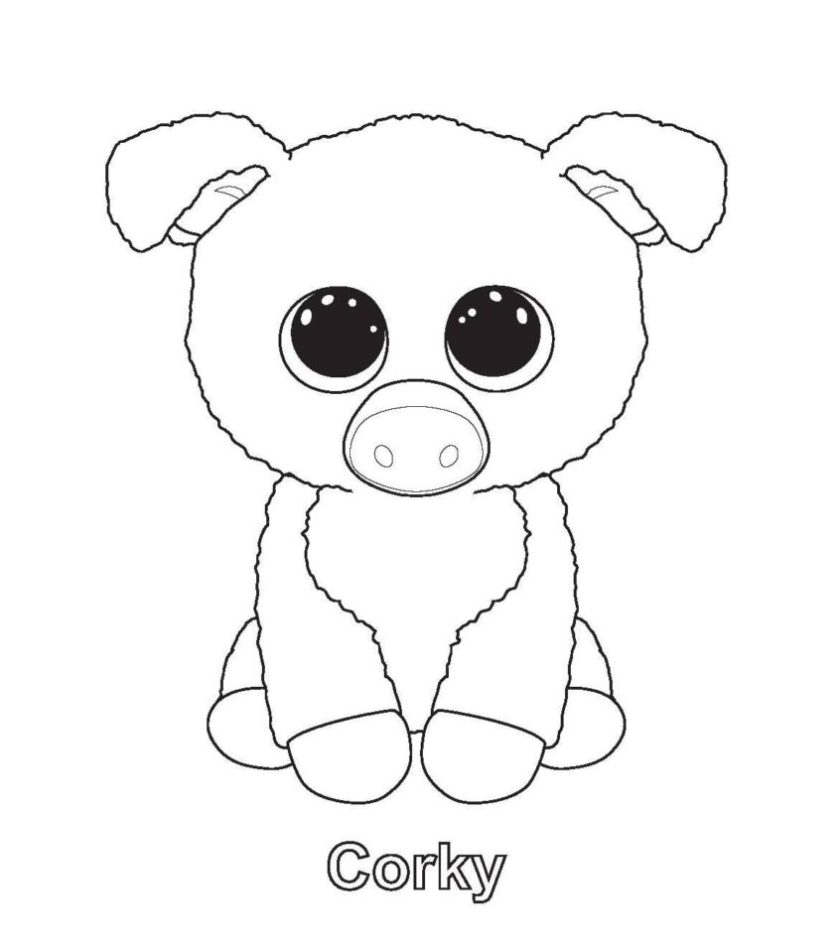beanie boos coloring pages  coloring home
