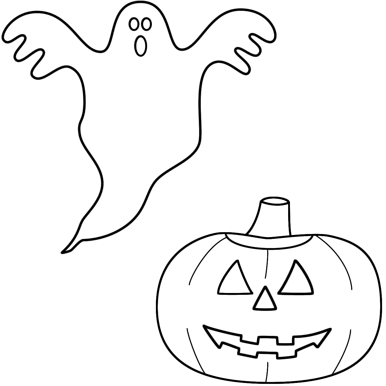 Ghost With A Pumpkin Jack O Lantern