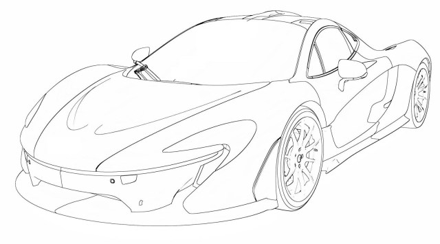 Mclaren P24 Coloring Pages At GetDrawings  Free Download
