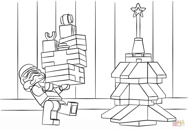 Lego Christmas Coloring Pages - Coloring Home