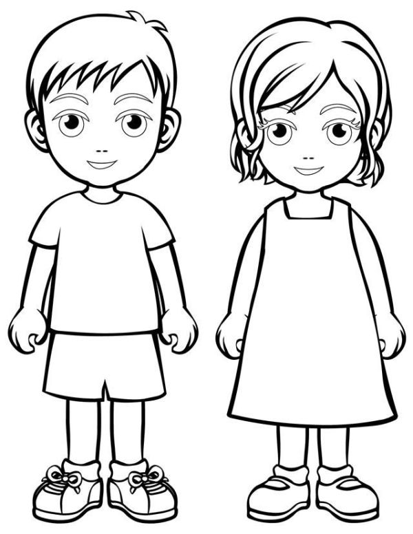 person coloring page # 2