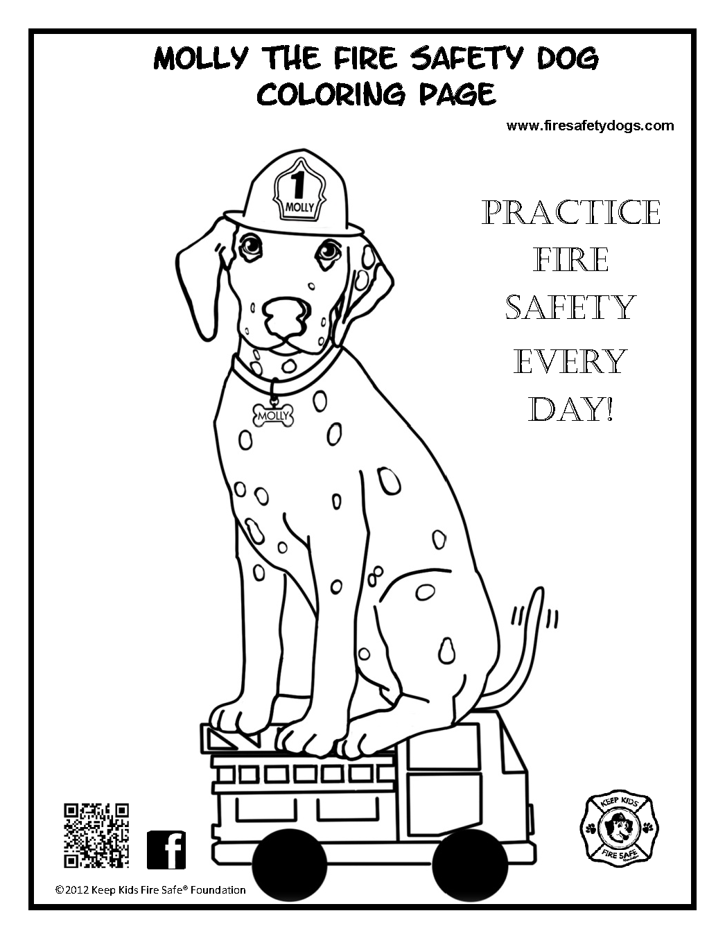 Fire Safety Book Coloring Page