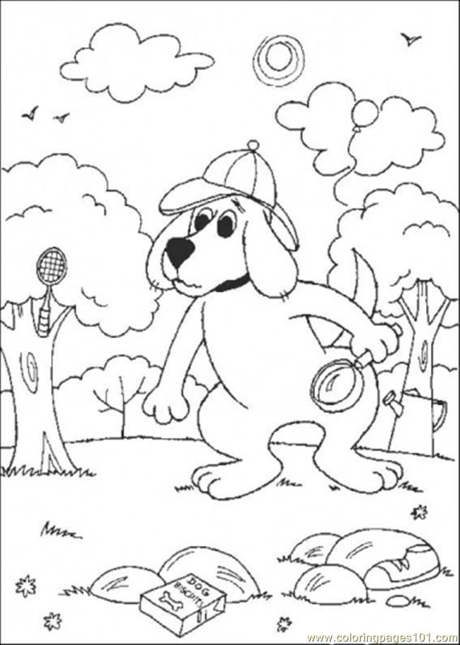 clifford the big red dog coloring page  coloring home