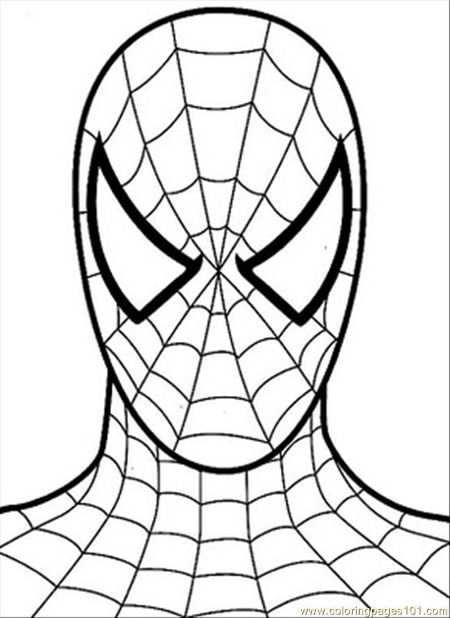 Printable Coloring Pages Of Spiderman Coloring Home