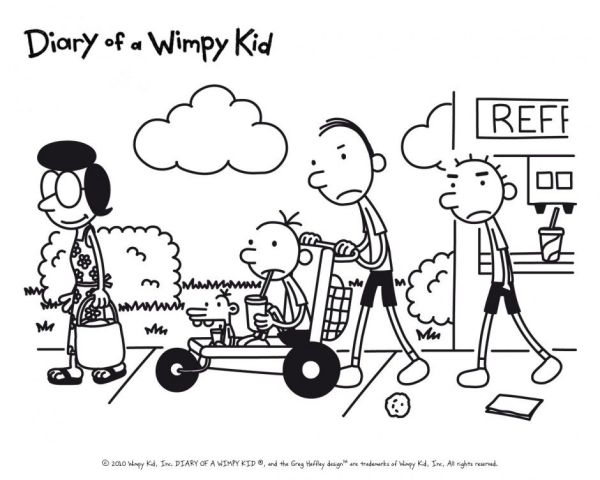 diary of a wimpy kid coloring pages # 0