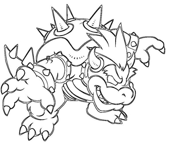 bowser coloring page # 19