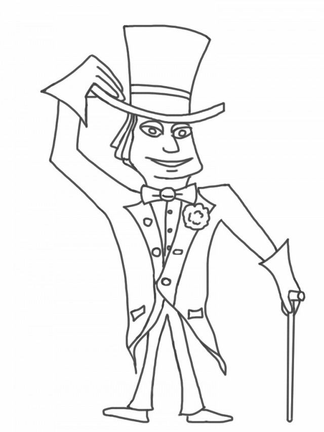 Oompa Loompa Willy Wonka Chocolate Factory Coloring Pages