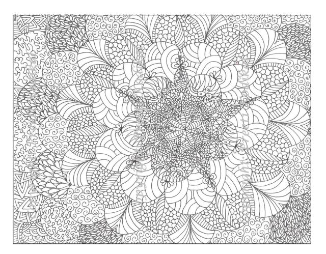 Abstract Coloring Pages Full Page - Coloring Home