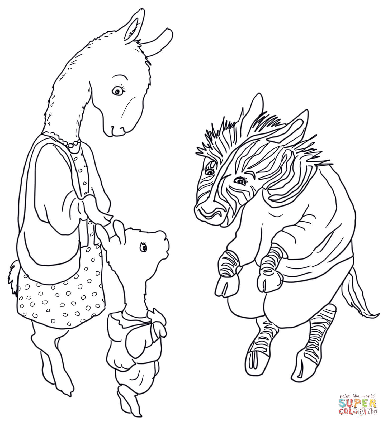 Llama Llama Red Pajama Coloring Page Free Printable Coloring Pages