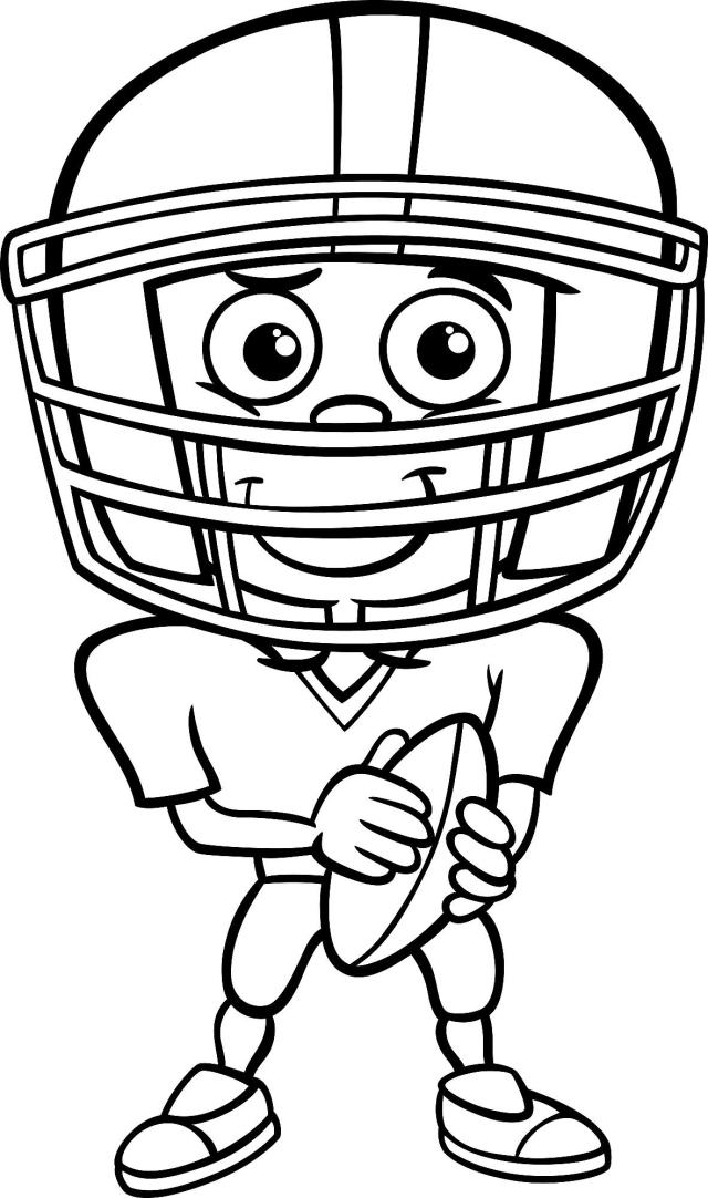 Football Coloring Pages: Printable Sports Coloring & Activity