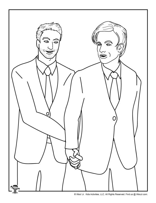 Gay-Wedding-Coloring-Page-for-Kids  Woo! Jr. Kids Activities