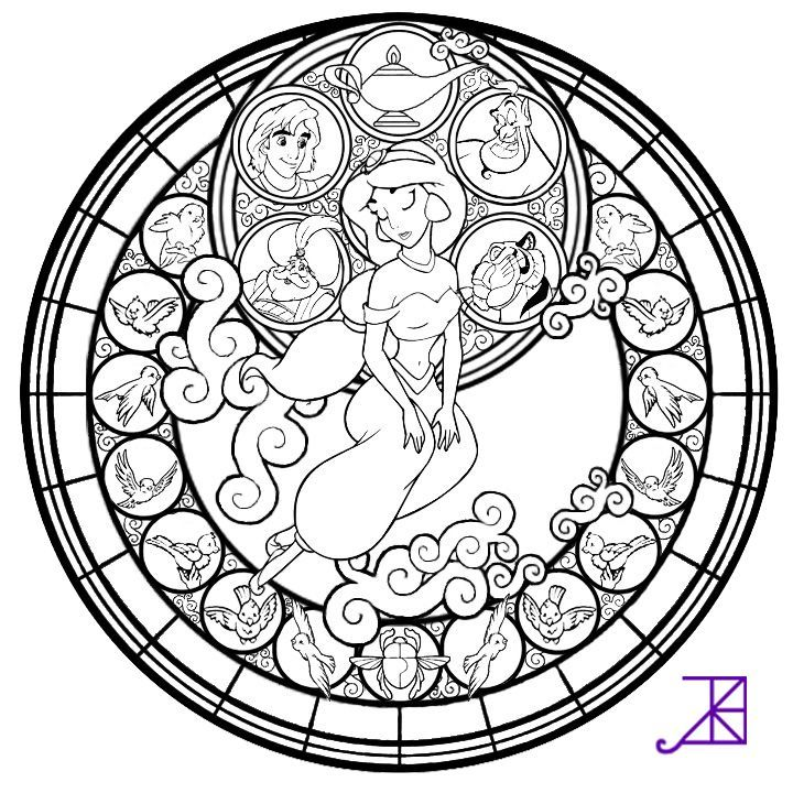 Stained Glass Coloring Page Coloring Home
