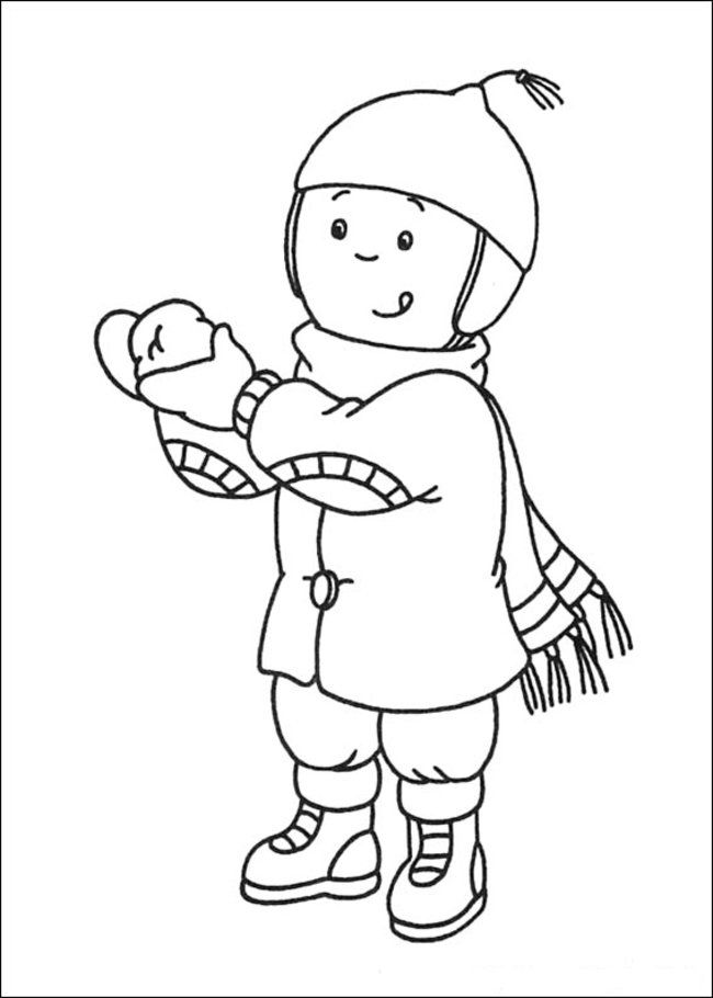caillou books online free  coloring home