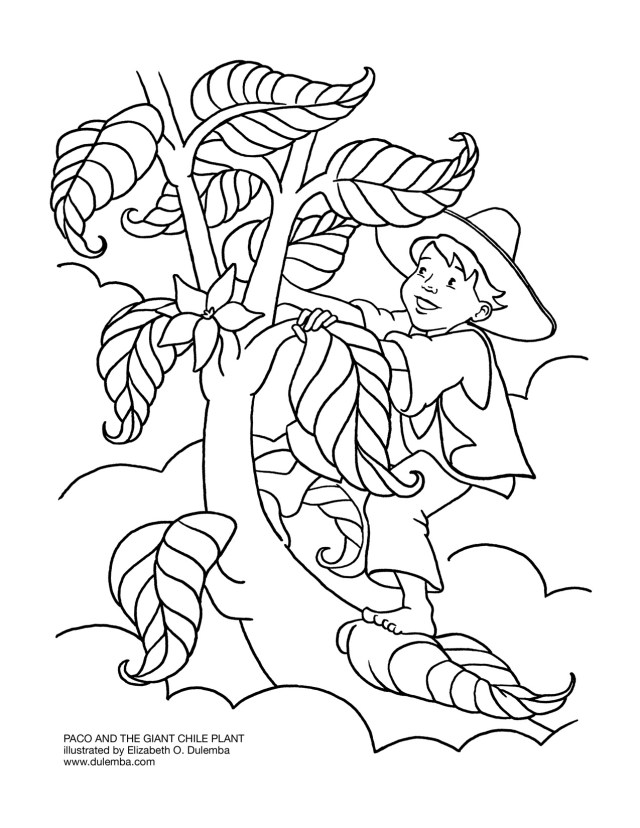 Magnificent Jack And The Beanstalk Coloring Pages : New Coloring