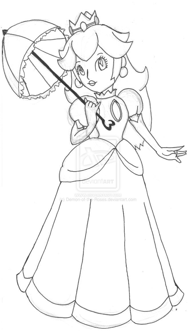 princess peach coloring pages printable  coloring home