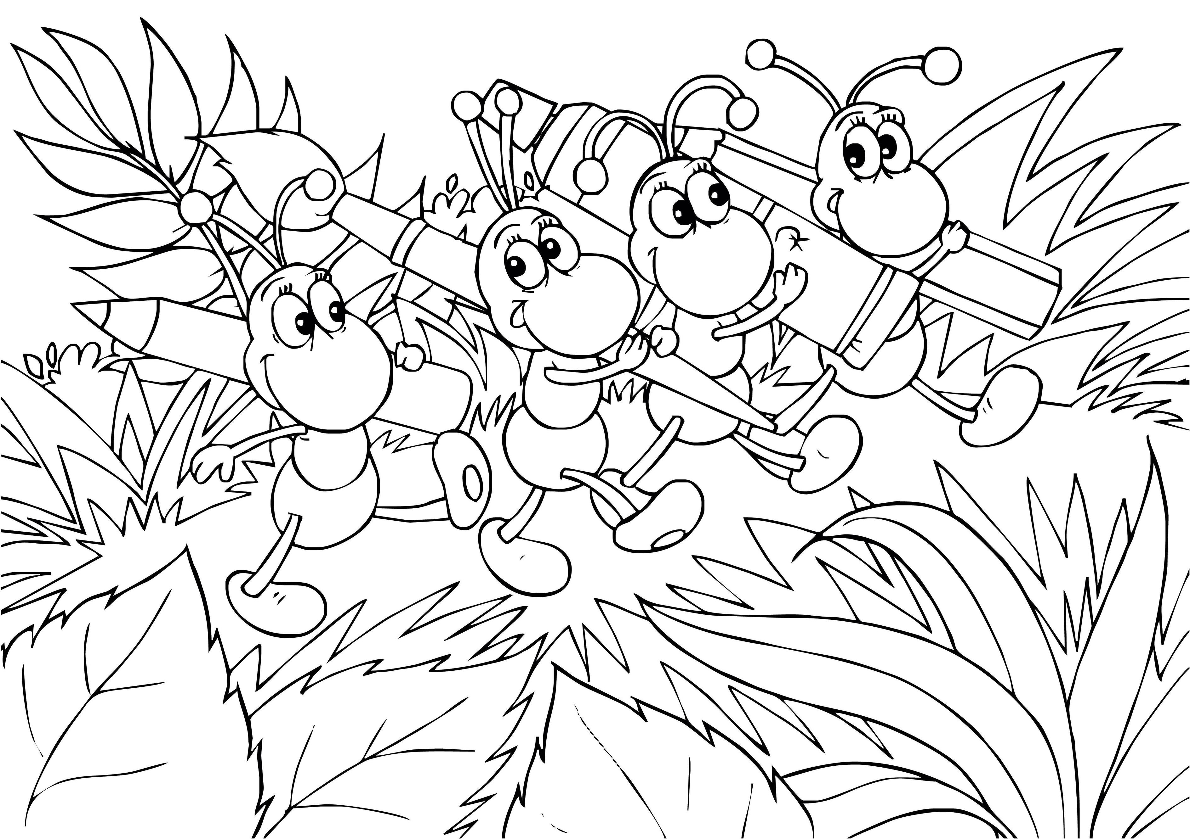 Ant Outline Drawing Ant Outline Coloring Page Cute Ant Clip Art