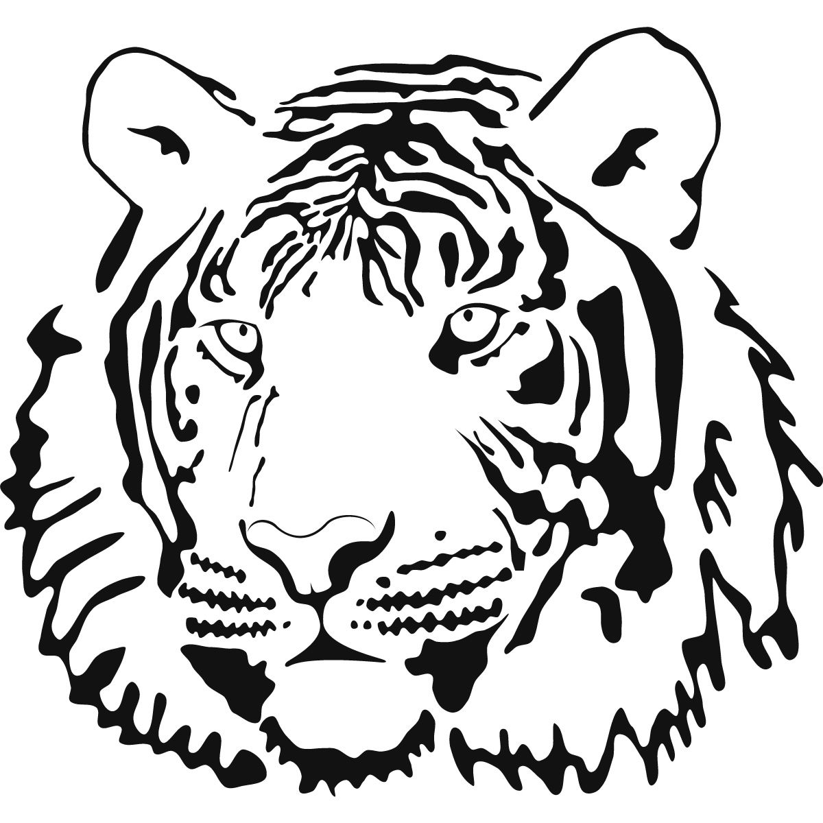 Best Photos Of Tiger Outline Coloring Page