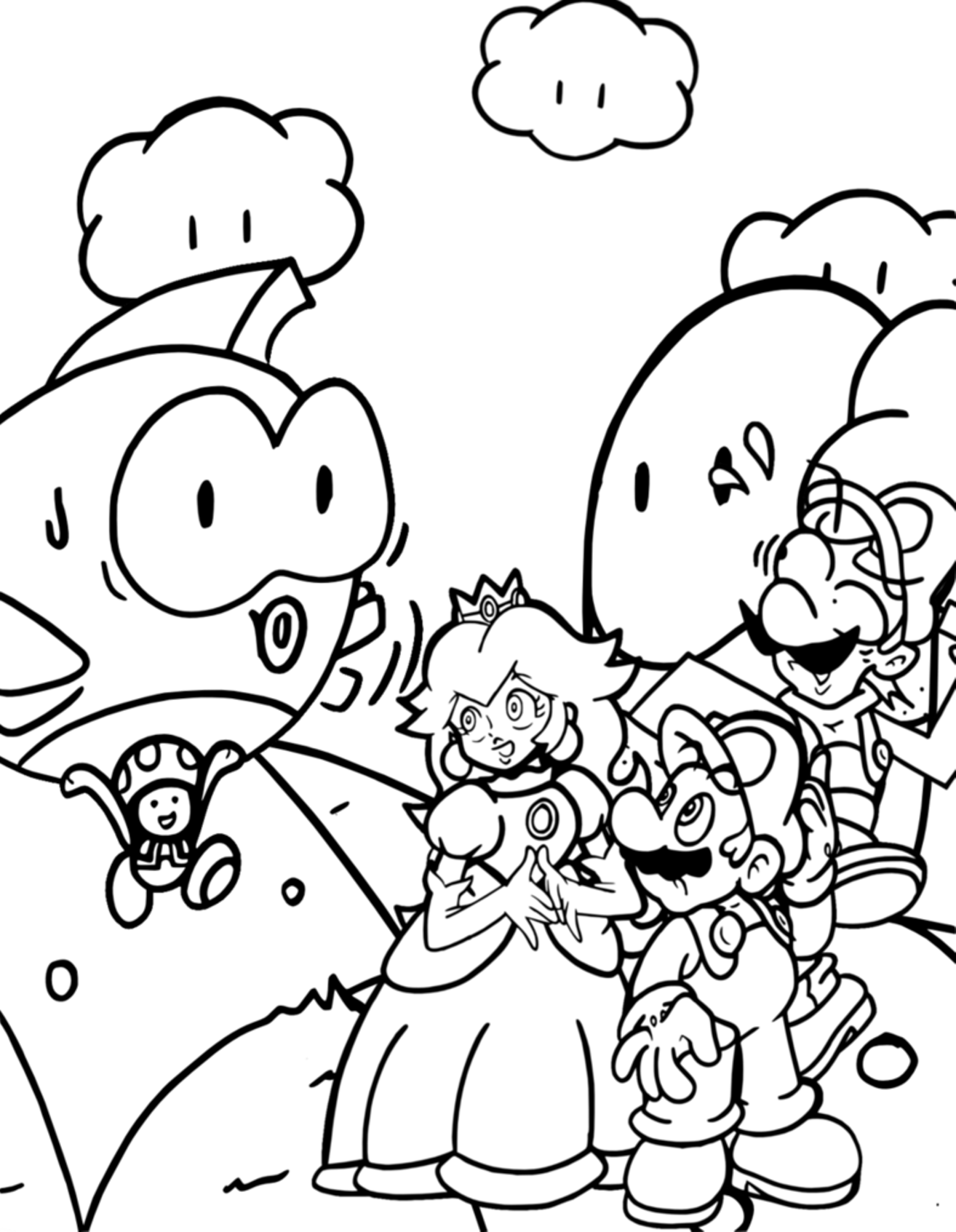 All Mario Characters Coloring Pages